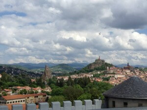 A landscape with a cloudy sky in Le Puy, France, home of the Federation