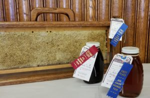 First and second place honey bottles