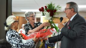Sister Elizabeth Brush during a retirement celebration at St. Augustine Plaza.