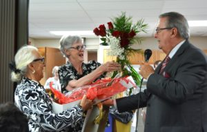 Sister Elizabeth Brush during a retirement celebration at St. Augustine Plaza.