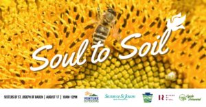 Soul to Soil event at the Sisters of St. Joseph. August 17 from 10am to noon. Sponsored by Venture Outdoors, Sisters of St. Joseph, DCNR, Rivers of Steel and Cycle Forward.
