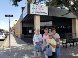 Sisters of St. Joseph of Baden bring new towels to the Humanitarian Respite Center in McAllen, Texas