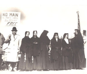 Sisters of St. Joseph join in a civil rights march in the mid-1960s in New Kensington, PA