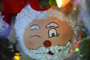 Winking Santa ornament