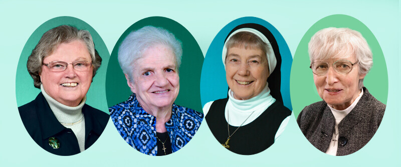 Sisters Janet Mock, Mary Ann Thimons, Natalie Lann and Honora McCawley celebrate 65 as Sisters of St. Joseph of Baden.